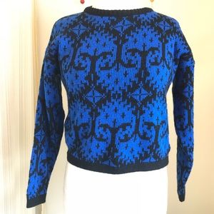 vintage 1980s Gitano cropped sweater